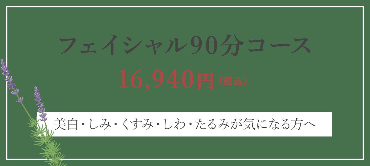 フェイシャル90分コース