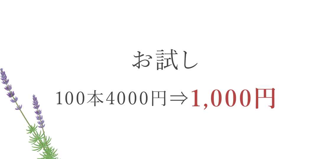 お試し100本1,000円